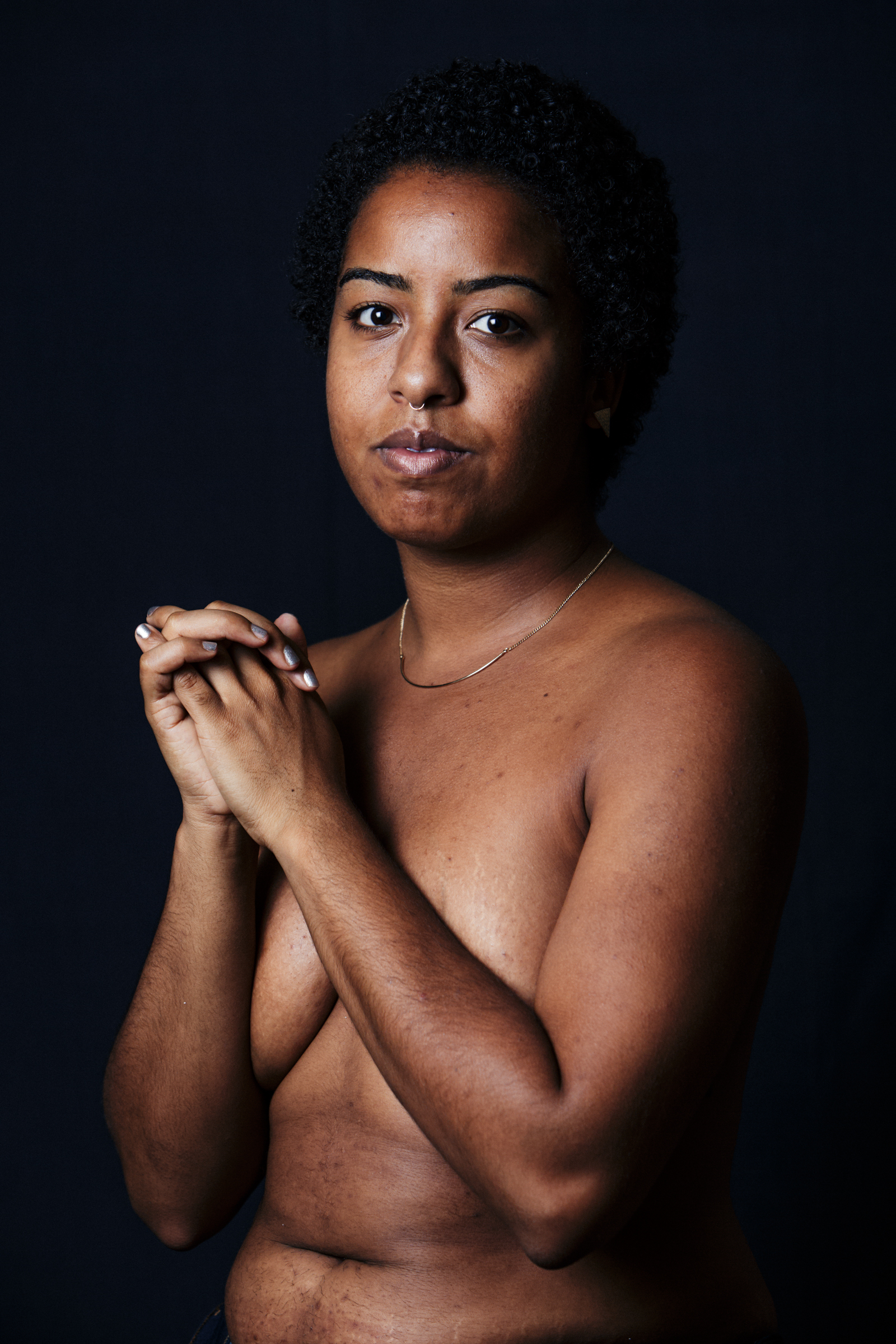 """When you're 15, pregnant, Black, and poor, you're told to shrink yourself despite your body taking up more space. I made myself small for society and it hurt all of my body. I've since learned, realized, and embody that I am meant to take up space. Now I carry myself with pride because I had my daughter at 15, because I am Black, and because at any given moment I can be poor again."""