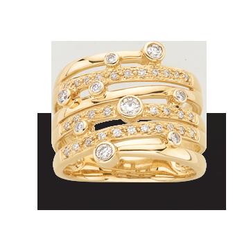 MESTERGULL DIAMONDS -YG Ring 39 Dia 0,43 ct HSI Dia 0,43 ct HSI  22.725,-