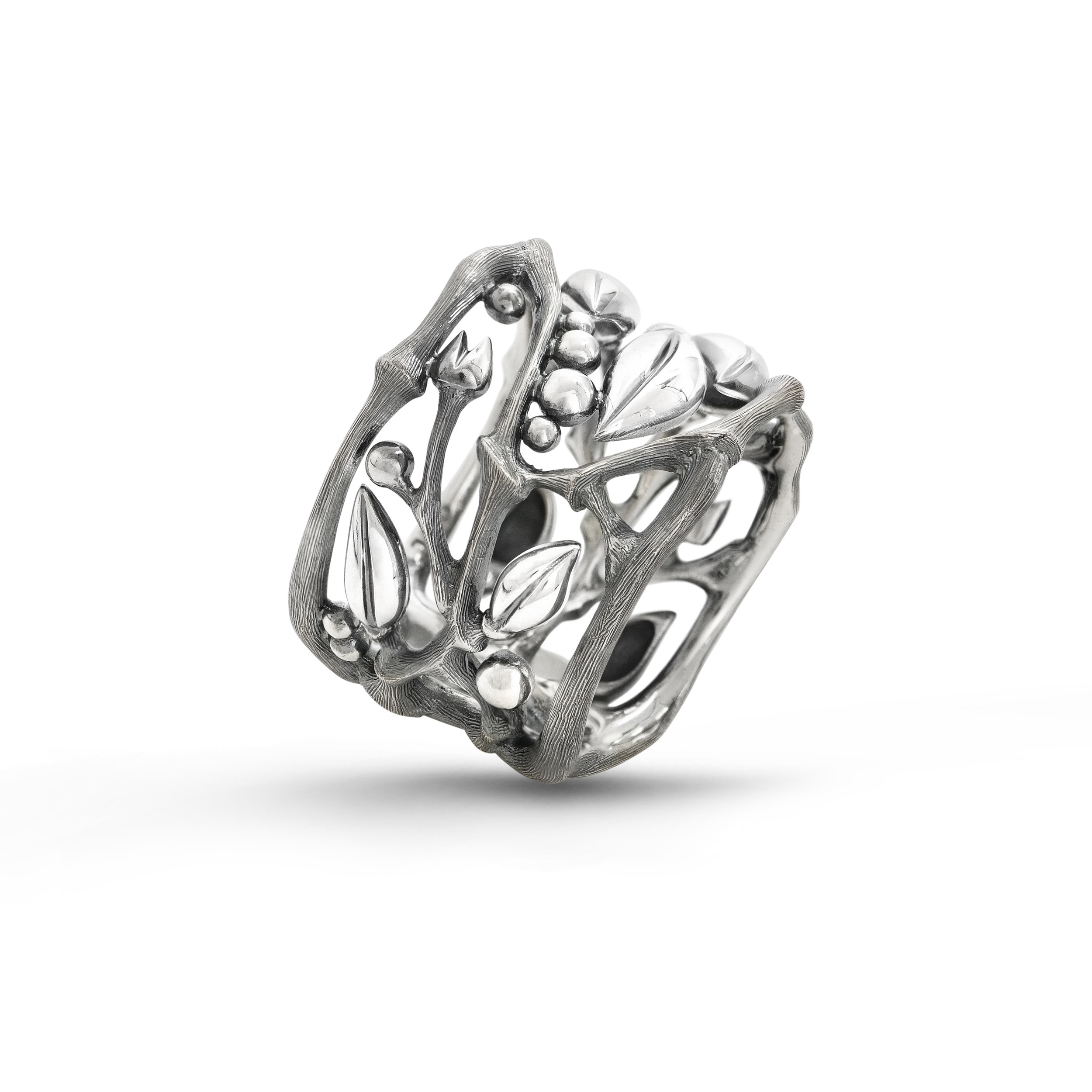 OLE LYNGGAARD - FOREST RING I STERLING SILVER   4.650,-