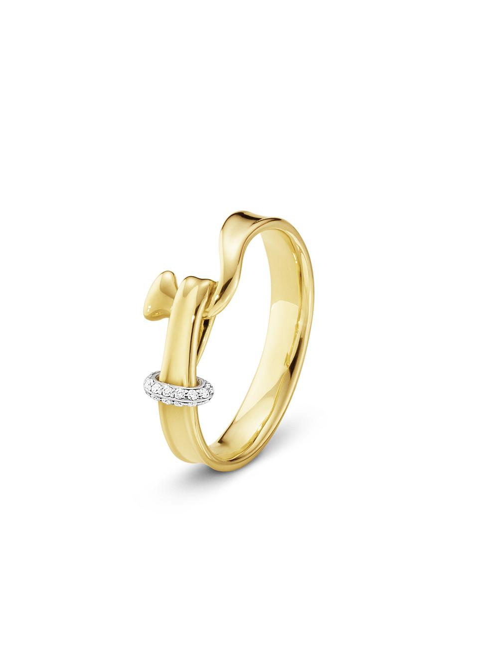 GEORG JENSEN - TORUN RING 18 KT GULL MED DIAMANTER  12.500,-