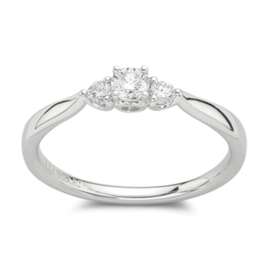 MESTERGULL DIAMONDS - HVITTGULL 3 DIA TOT 0,25 CT HSI  10.750,-