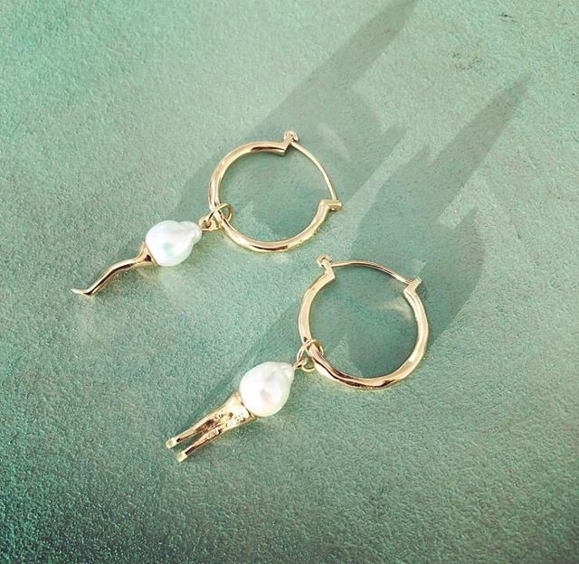 Øreringer med eller uten anheng - du bestemmer 😋✨@bjorgjewellery  #bjorgjewellery #sterlingsilver #goldplated