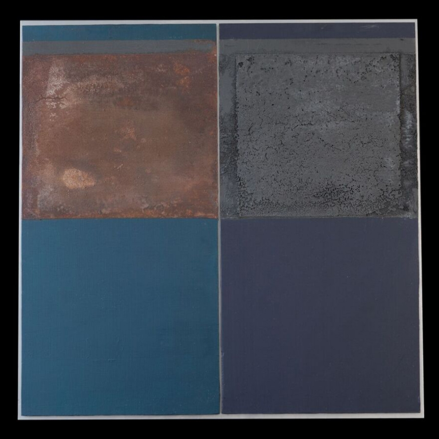 Mixed media on two panels 63 x 63 cm