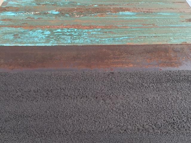 Three materials 2, mixed media on panels, 30 x 60 cm
