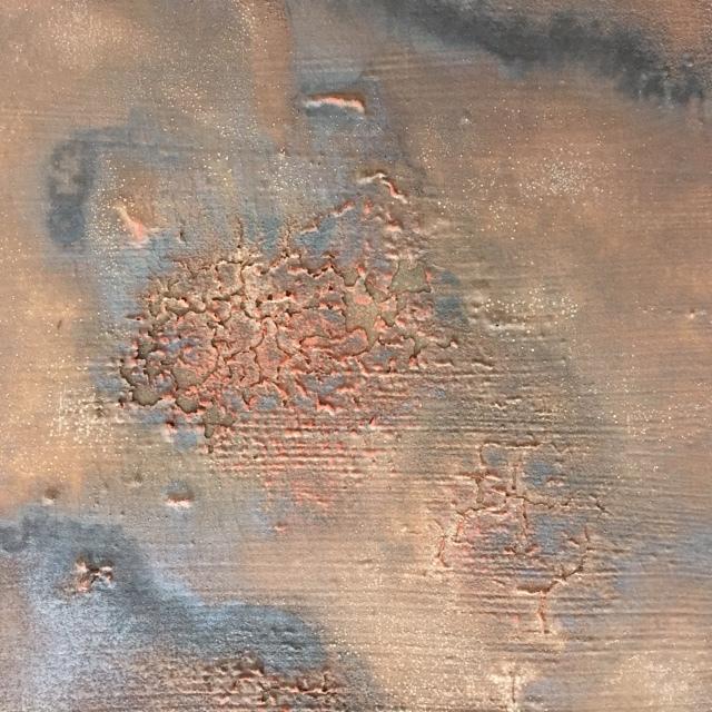 Mixed media on panel, 30 x 30 cm