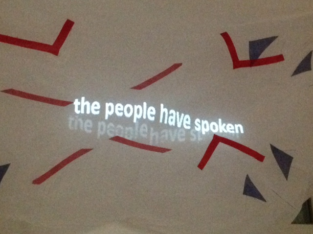 'we're all strangers now' - 'the people have spoken'