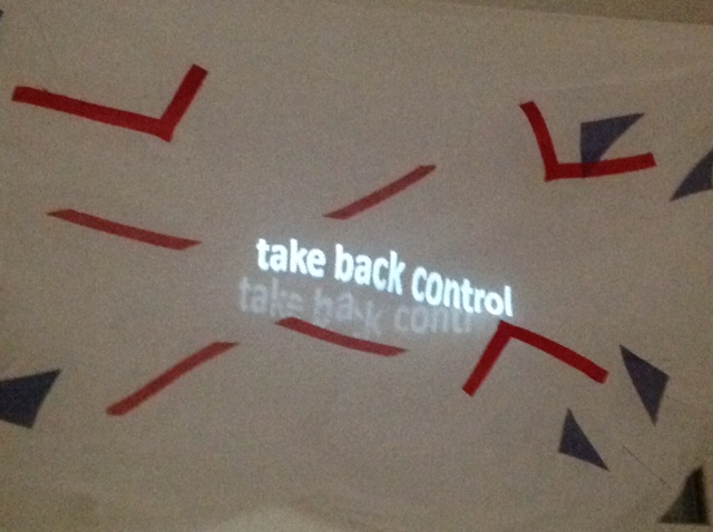 'we're all strangers now' - 'take back control'