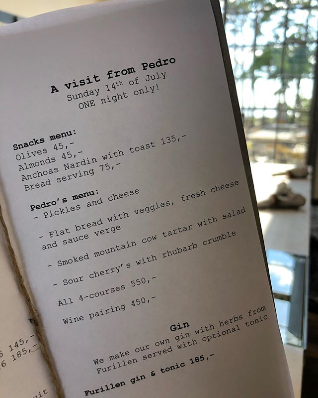 Pedro's taking over the menu tonight @fabrikenfurillen  SUPER EXCITED!! @pedroscave