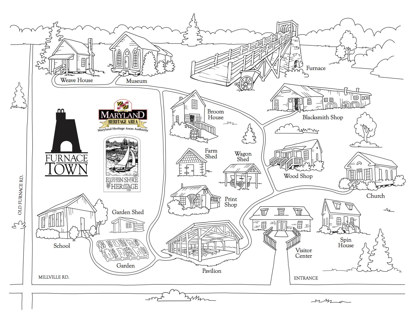 Furnace Town Living Heritage Village Map