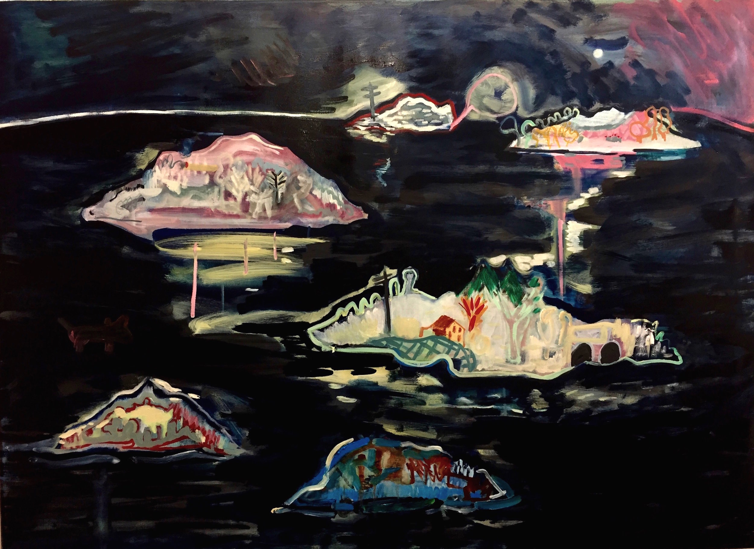 Ghost Islands Oil on Canvas 150x130cm
