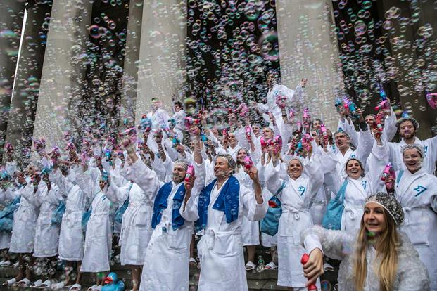 When the startup I worked for decided to give the competition a scrub and showered the City of London with bubbles