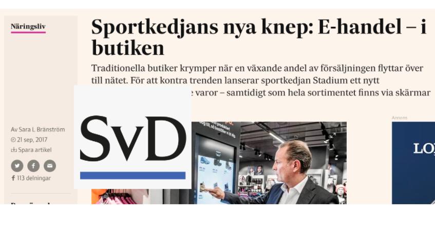 Svenska Dagbladet, one of Sweden's largest nationals