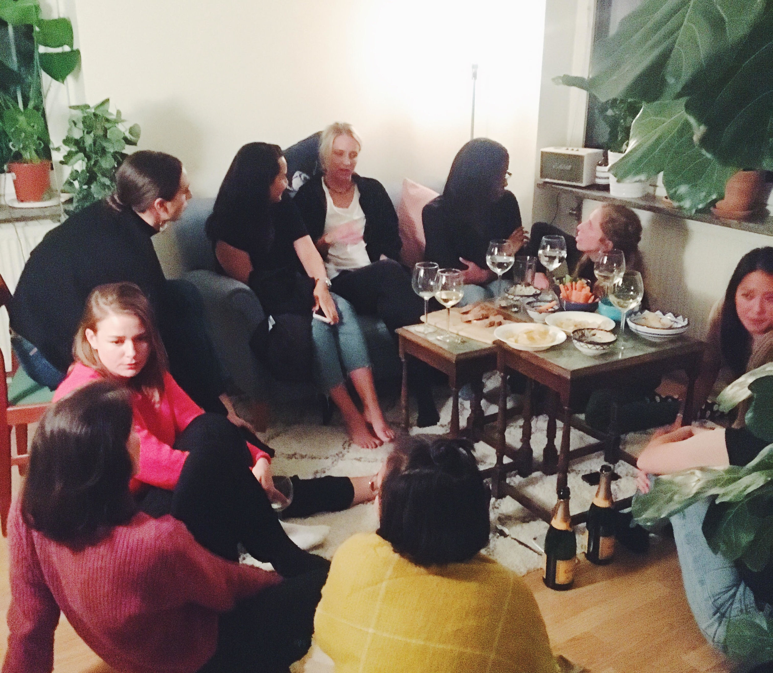 When I invited some of Malmö's most amazing women to my flat for cava and biz, most of whom I'd previously met once or nonce.