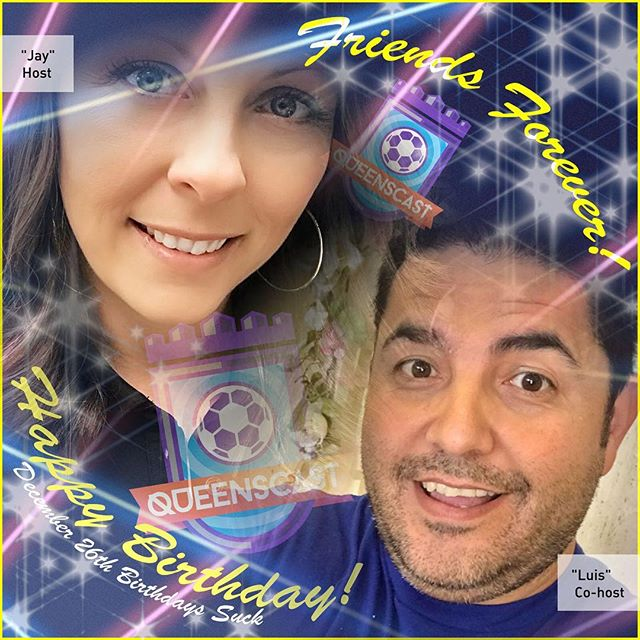 Happy birthday to our hosts with the most! Make sure to tell @justinapratt79 and @radioactivclown to enjoy their day.  #QueensCast #LetsScore #BirthdayBuddies #OrlandoPride