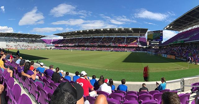 Good to be home at @orlandocitysc @orlpride stadium! #LetsScore #FloridaCup2019 #NoFilter #TheBeautifulCity