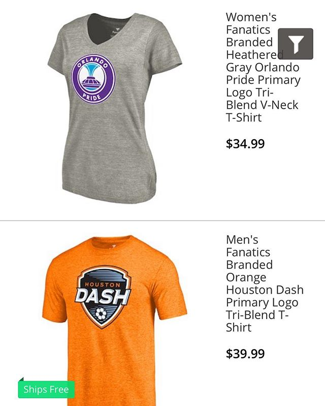 Went to the @orlpride online shop and it's got tons of @houstondash merchandise! 🤔 #LetsScore #YouHadOneJob #NWSL