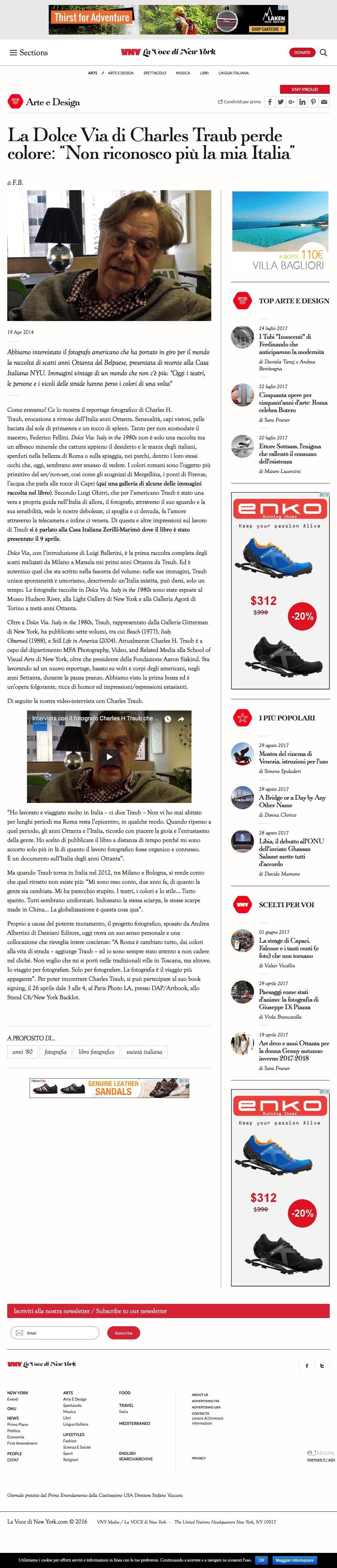 """20140419  Dolce Via - La Voce di New York -  di Charles Traub perde colore-""""Non riconosco più la mia Italia"""" – La Voce di New York (2017-08-29 14-01-34).jpg"""