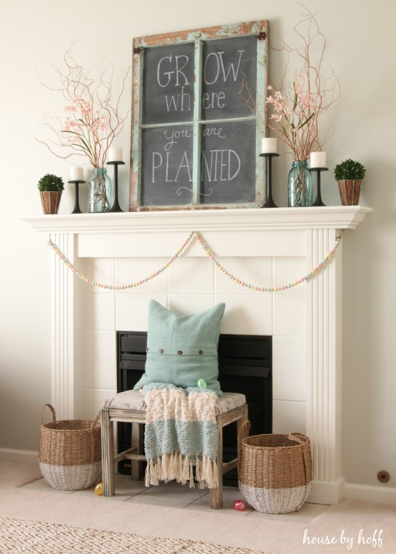 This beautiful mantel was decorated by  House of Hoff . Love the colors and textures!
