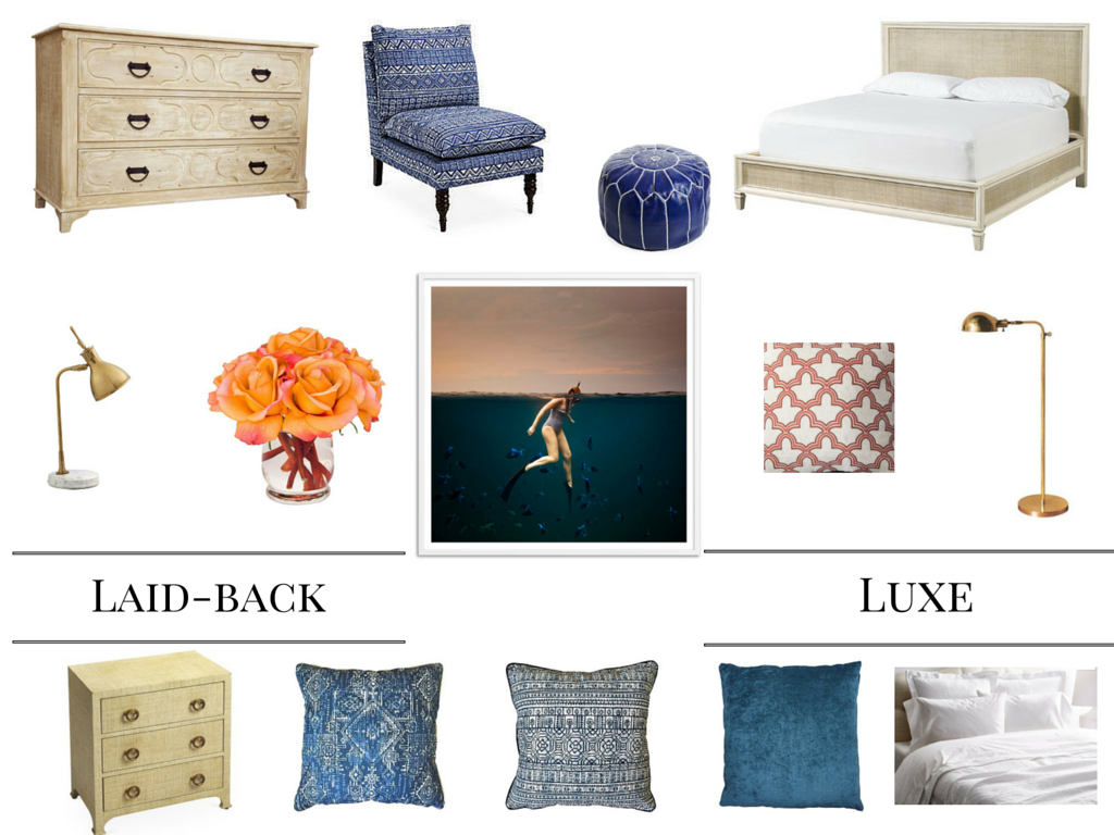 Let's create a retreat in your home!  Mood Board created with items from  One Kings Lane  and  Domino.com.