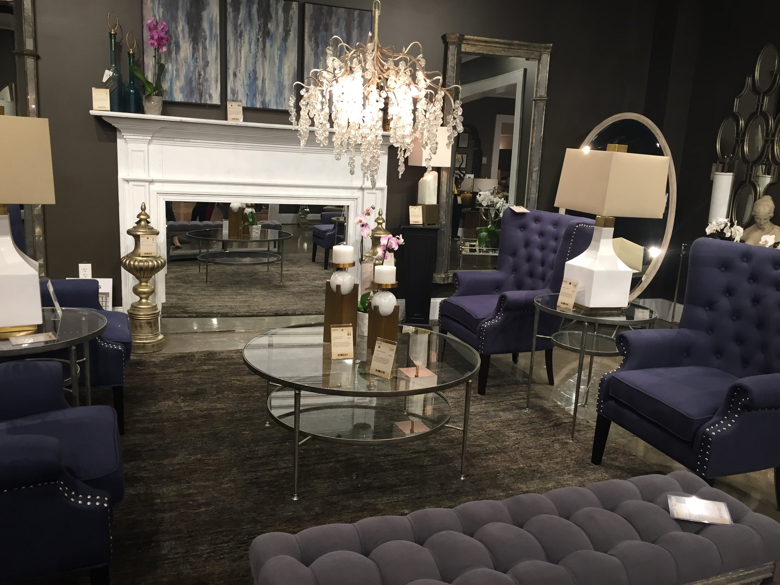 Deep, stormy, moody blues and grays from Uttermost.