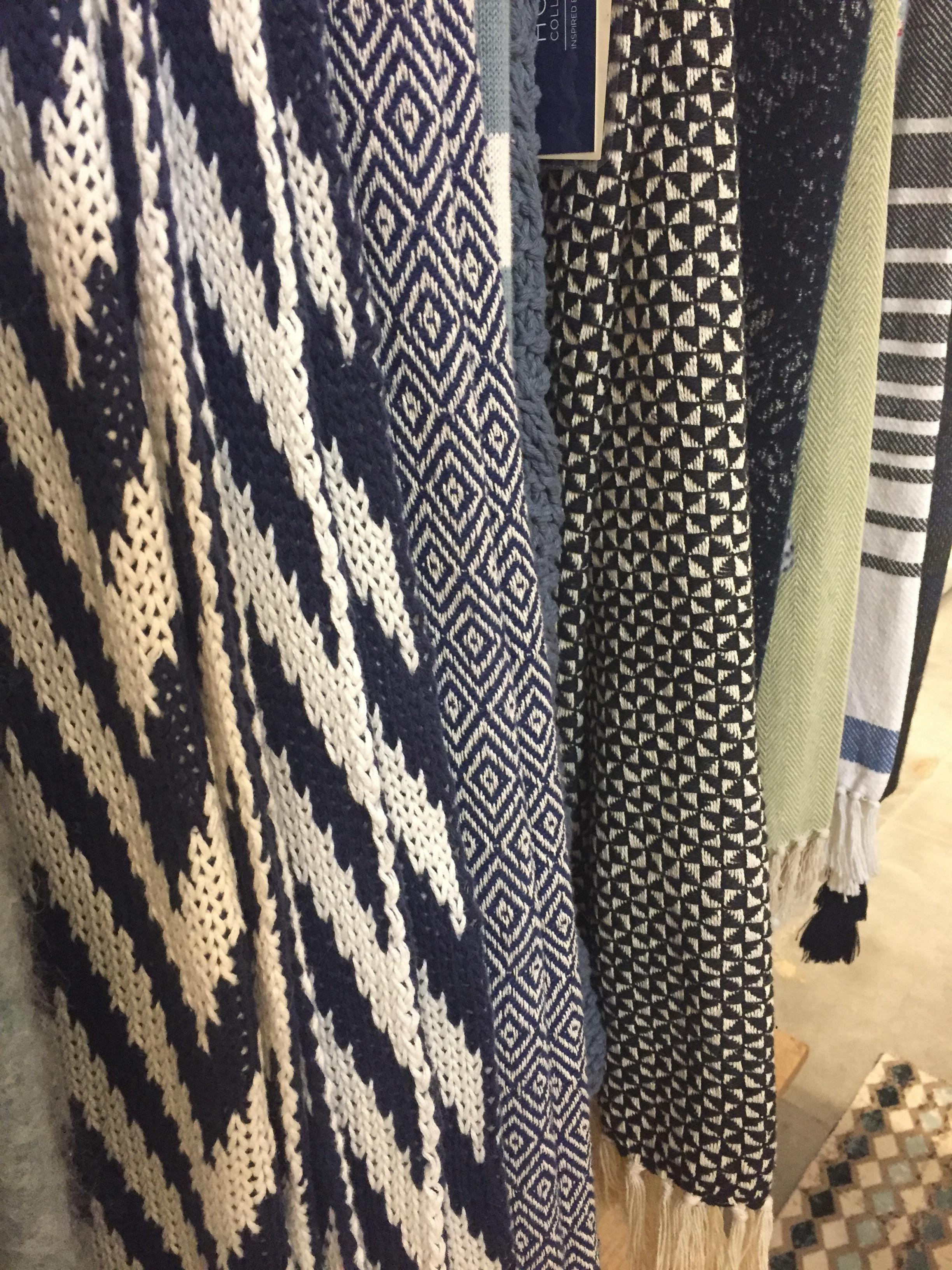 Texture and pattern are wonderful additions to these throws from Loloi Rugs.