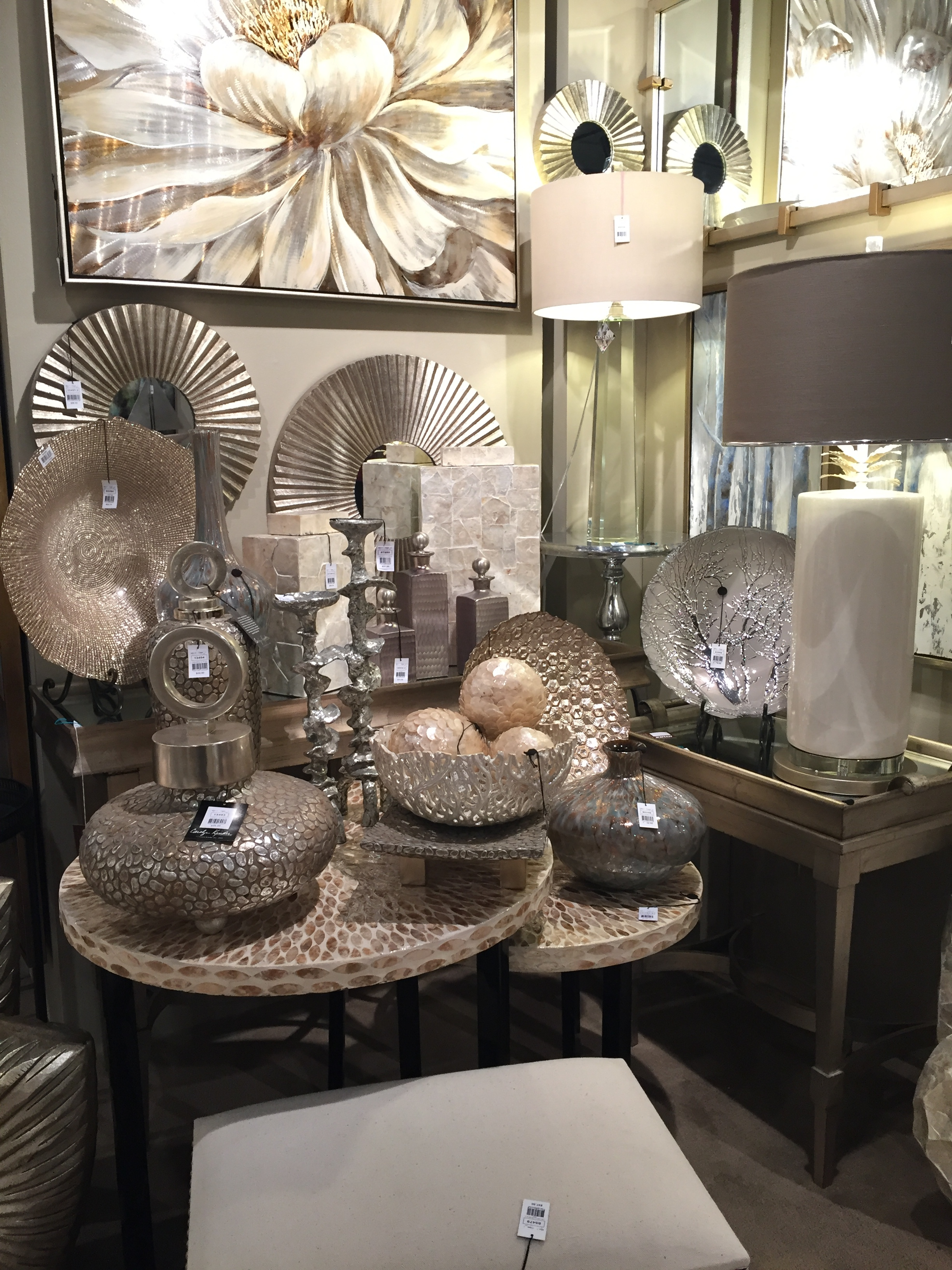 Iridescents are everywhere! Look at these decor items!