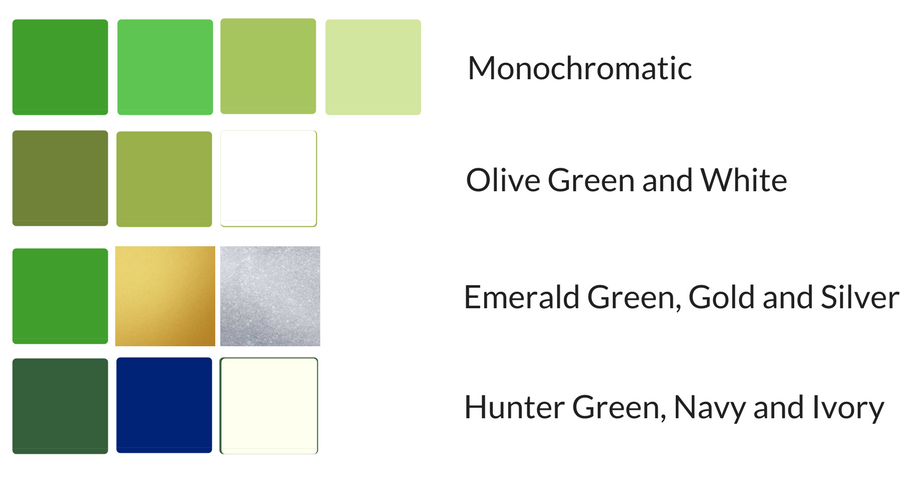 Be sure to check out my portfolio with some rooms  decorated with green !