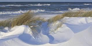 The winter beaches are invigorating.