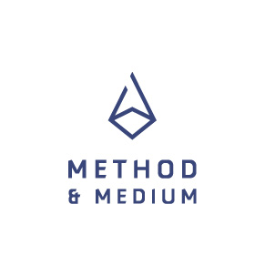 method and medium, logo design, brand design, graphic design