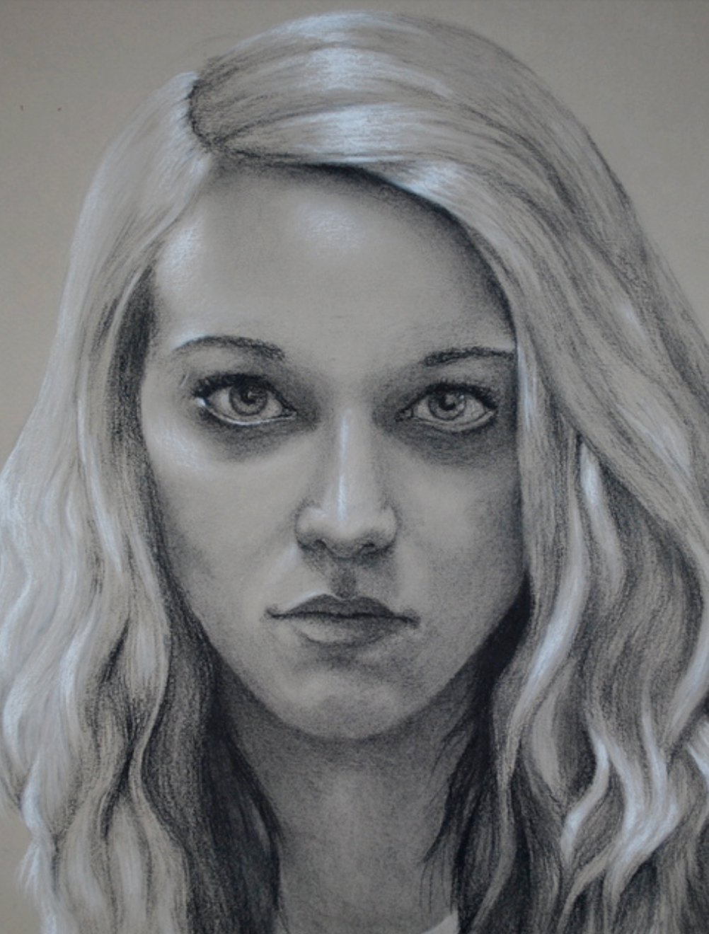 Fig. 1  –  Self Portrait , charcoal and conte on paper, 2010