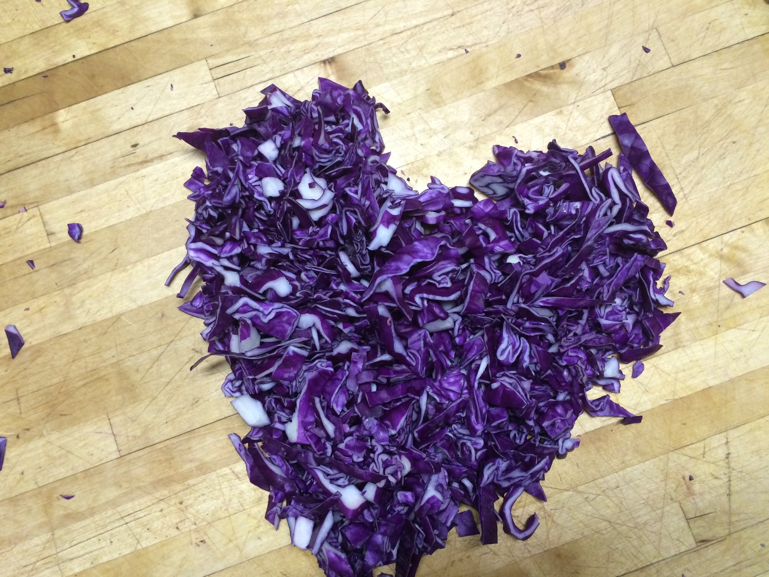 Cabbage lasts forever. Texture, color, AND vitamins. Win win win!