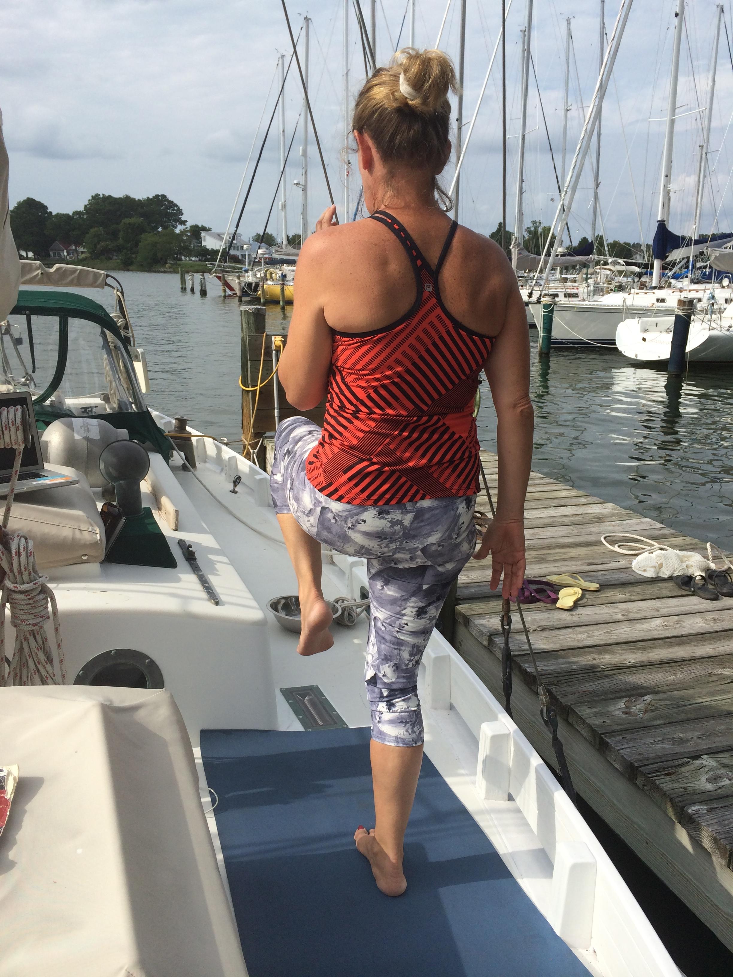Dock fitness on board.