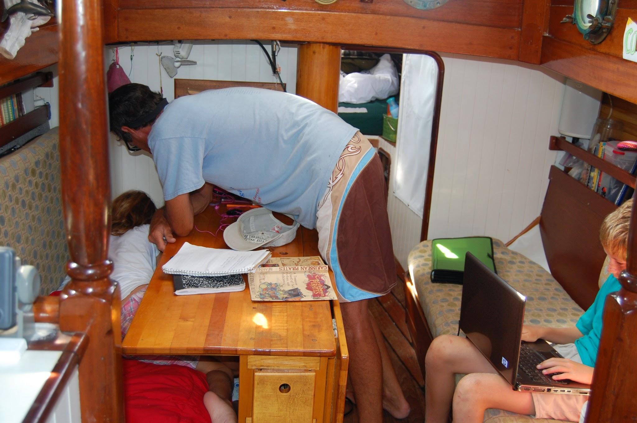 Boat schooling.
