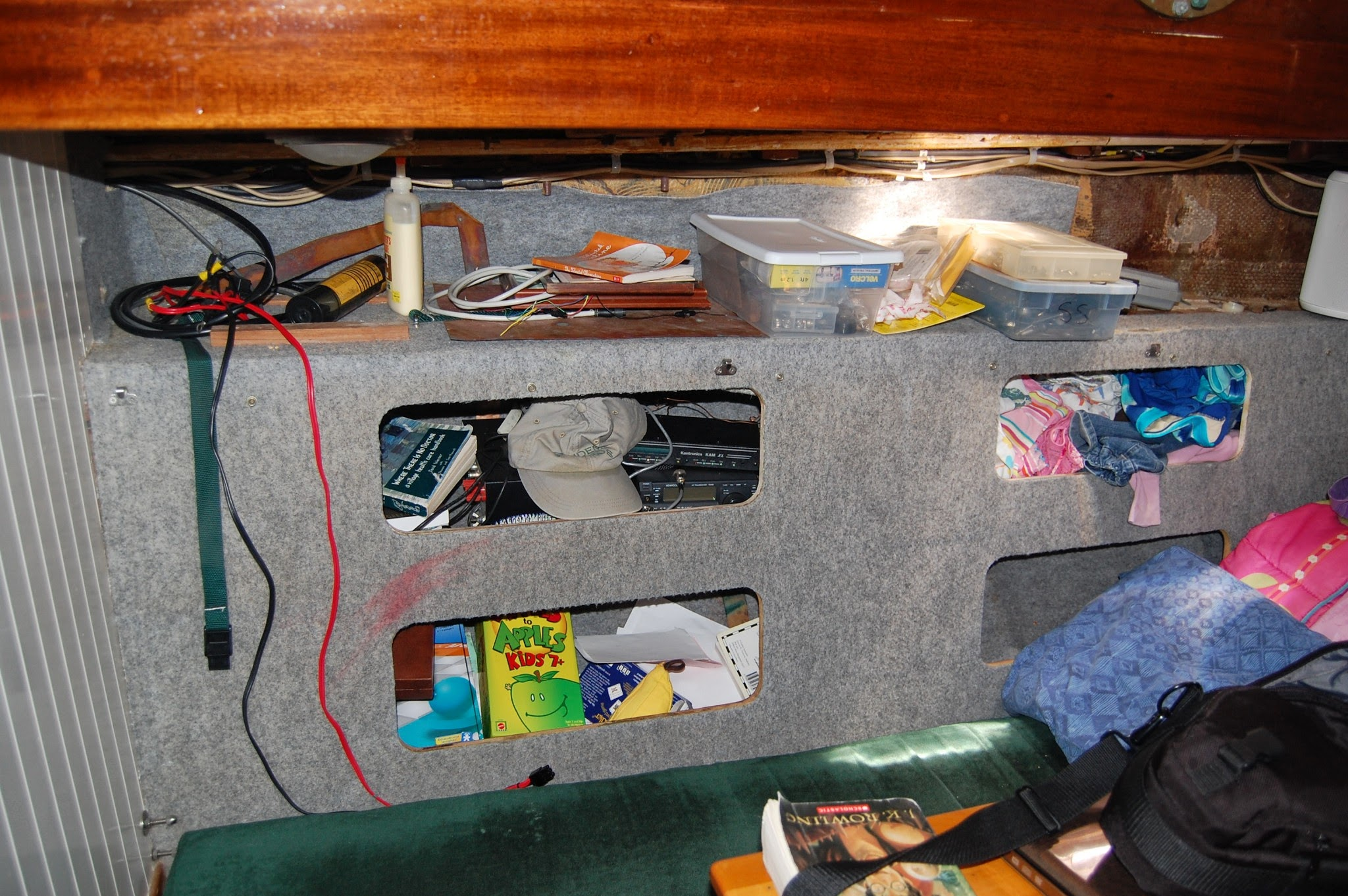 An earlier version of work on this space. Note the games, radio, and various amounts of STUFF.