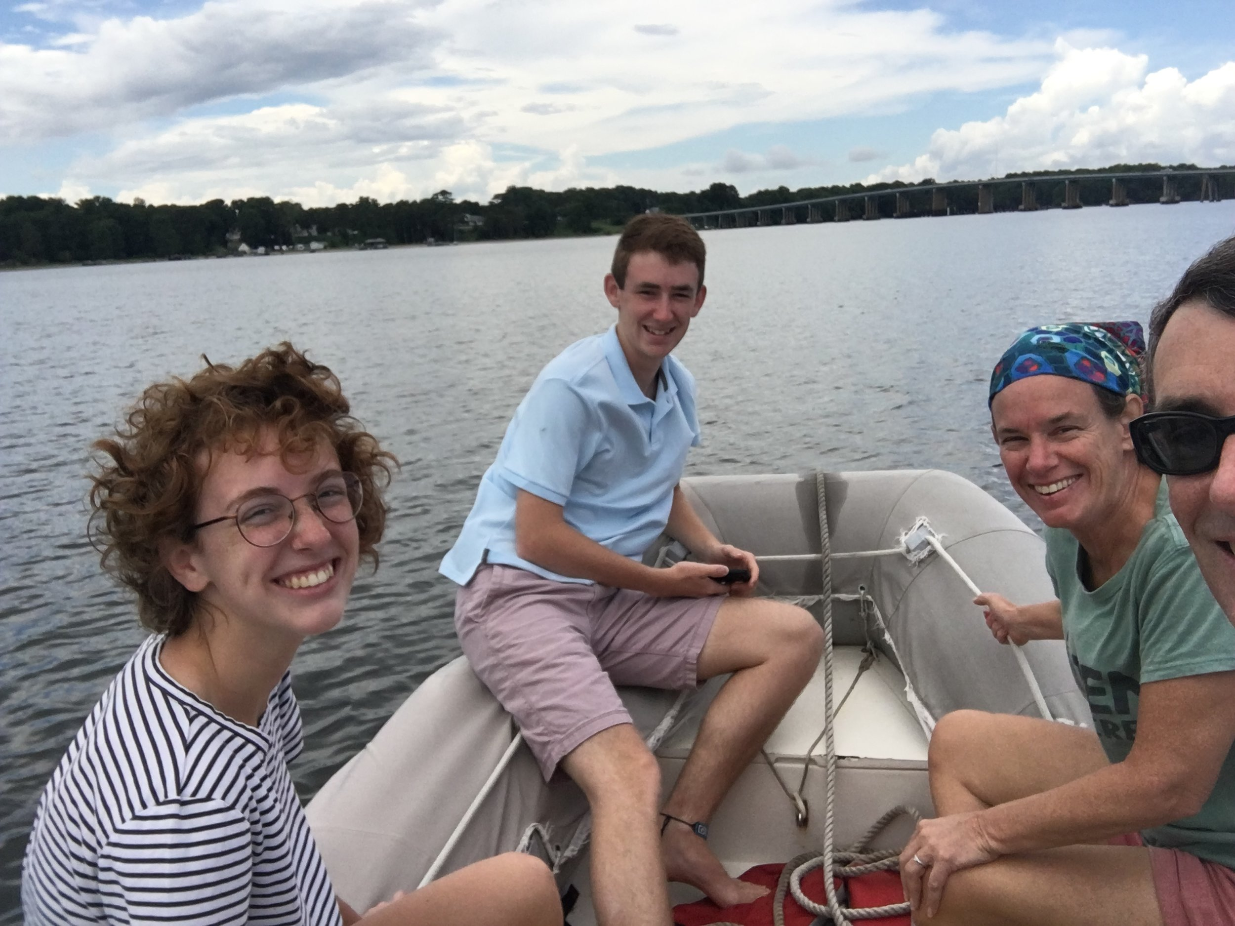 Family dinghy ride. Bliss.