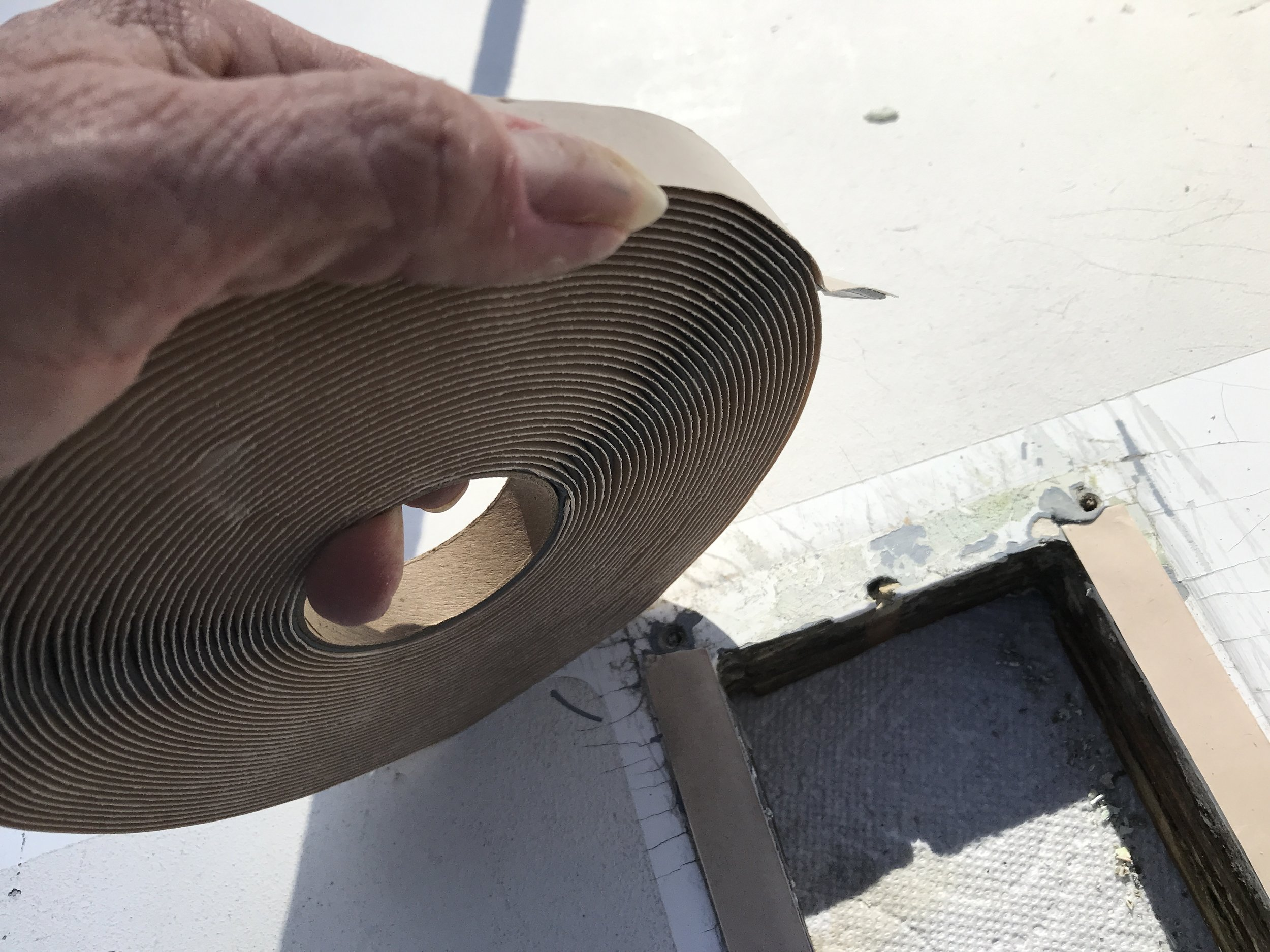 Butyl tape comes in a roll in different widths. This is the 3/4 inch width and it's perfect.