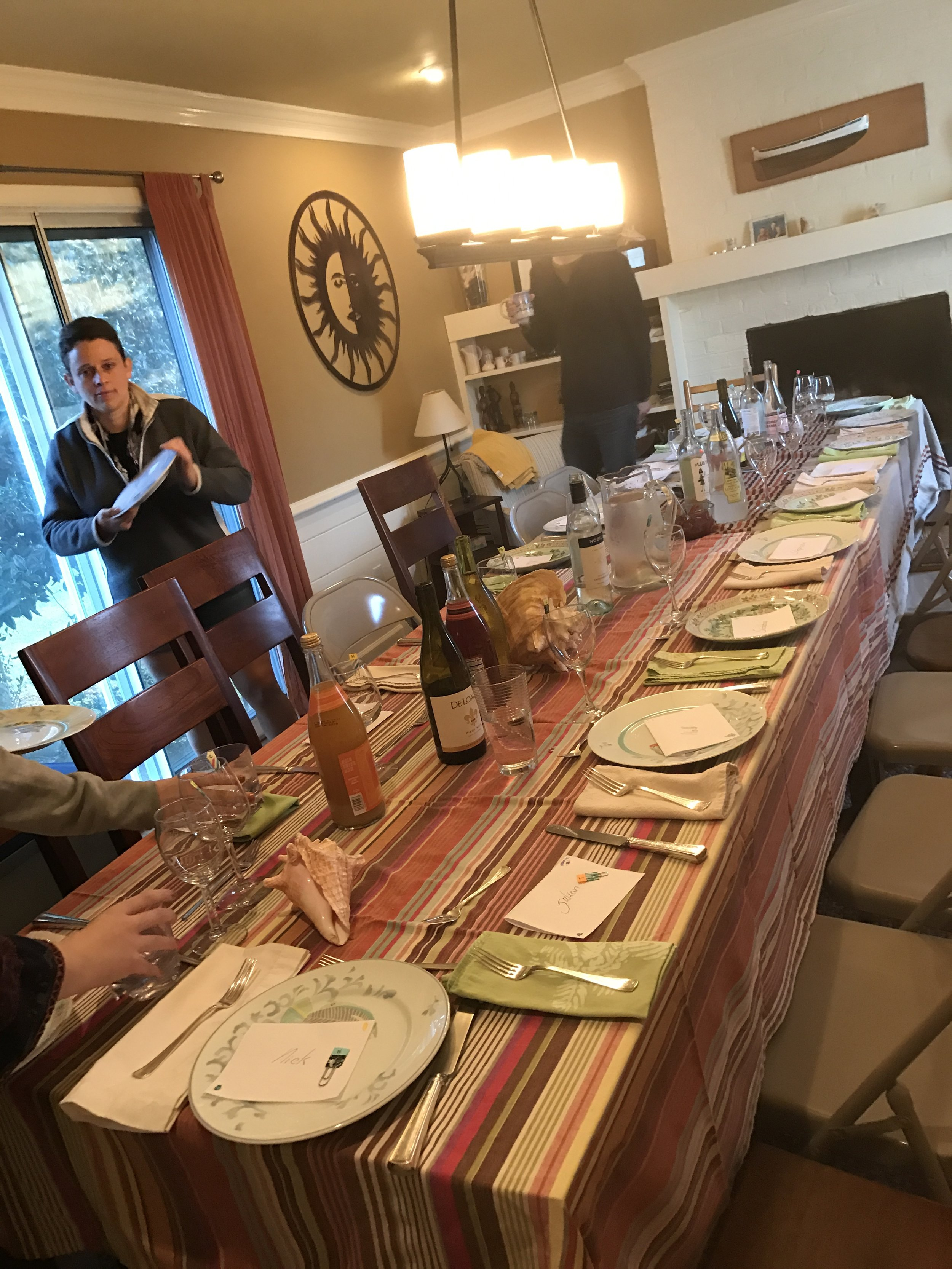 A great dining room for hosting a feast!