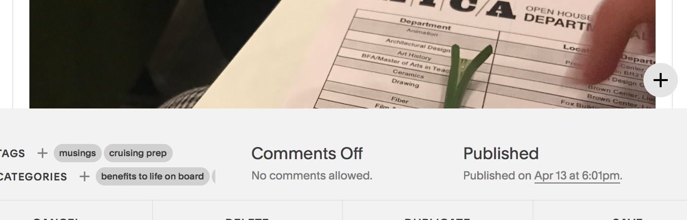 """See the """"comments off""""?"""