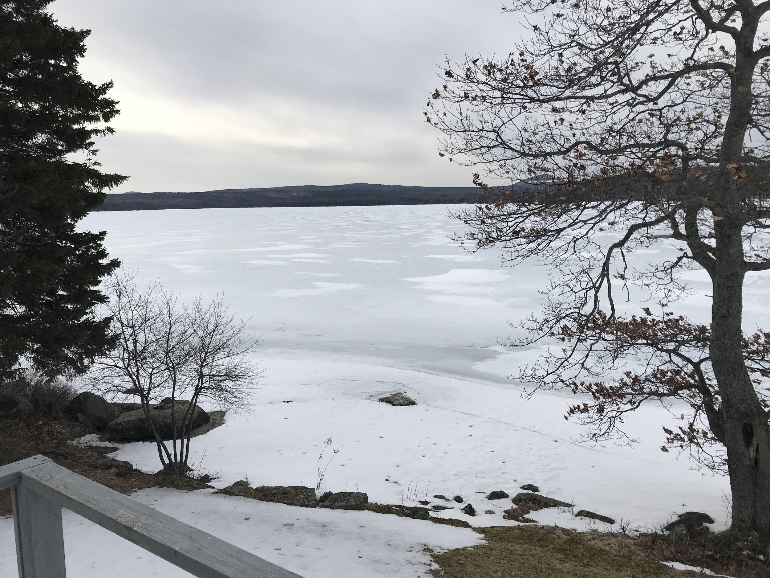 Ice still on the lake.