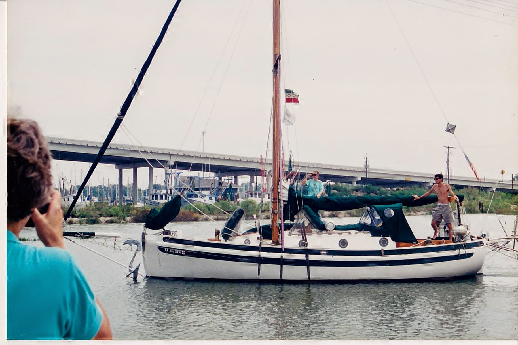 Heading out under the Kemah bridge on our first cruise.
