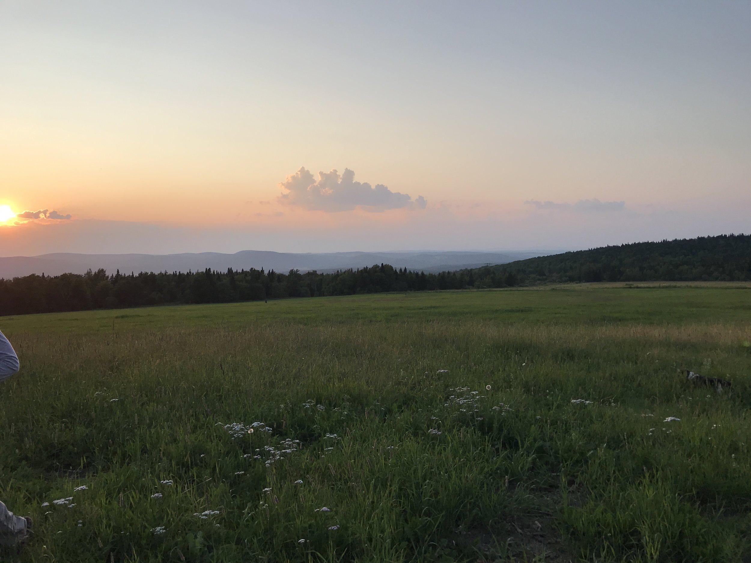 Brousseau Mountain sunset, July 2019