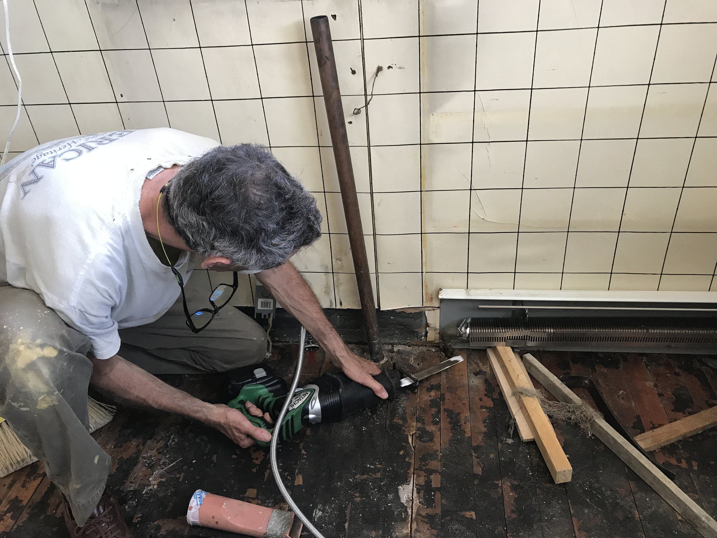 Cutting old heating plumbing? Check.