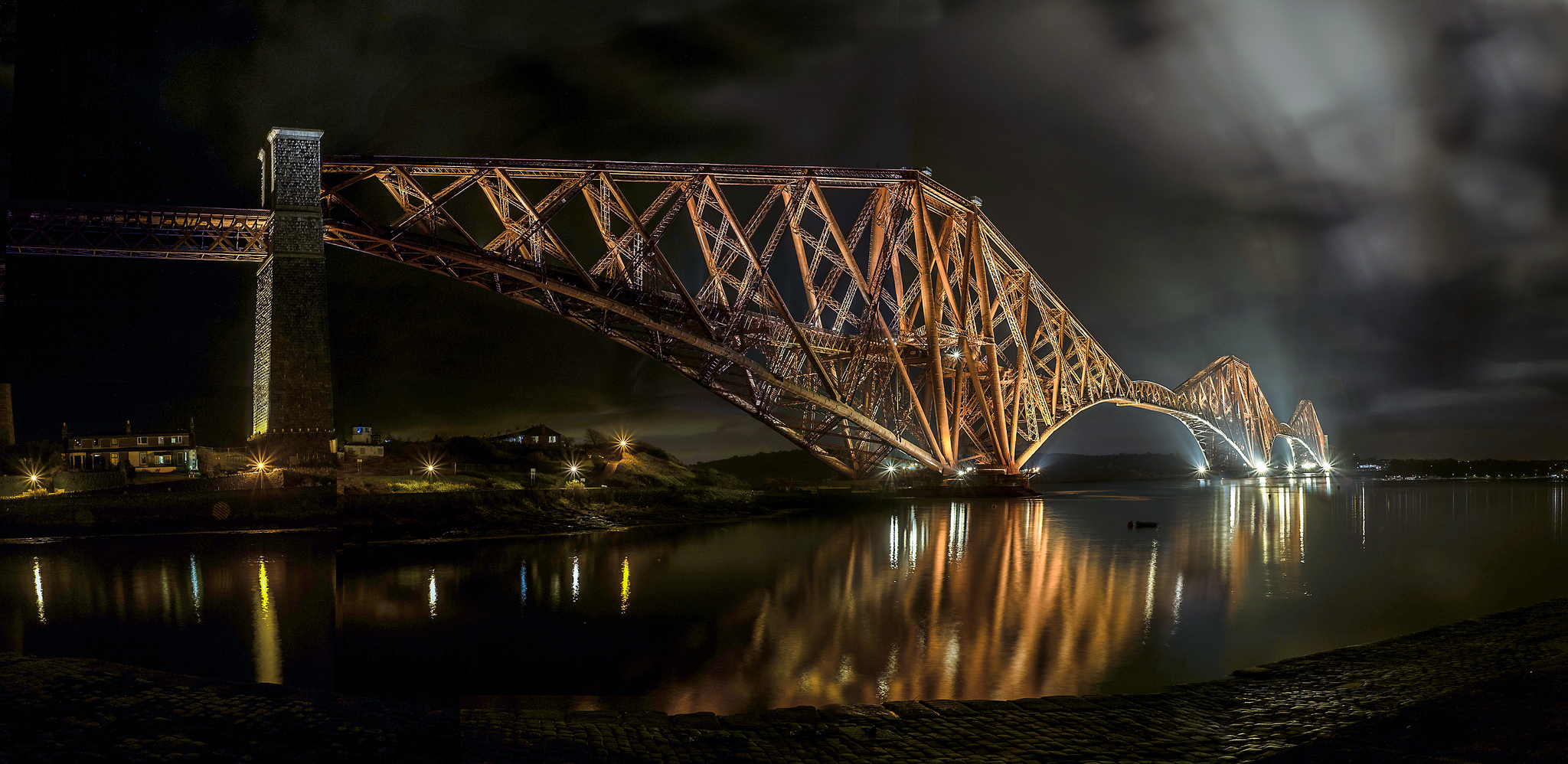 The Forth Rail Bridge - 19 image composition - This was taken to commemorate when the bridge was finally painted in full for the first time.  read the story here