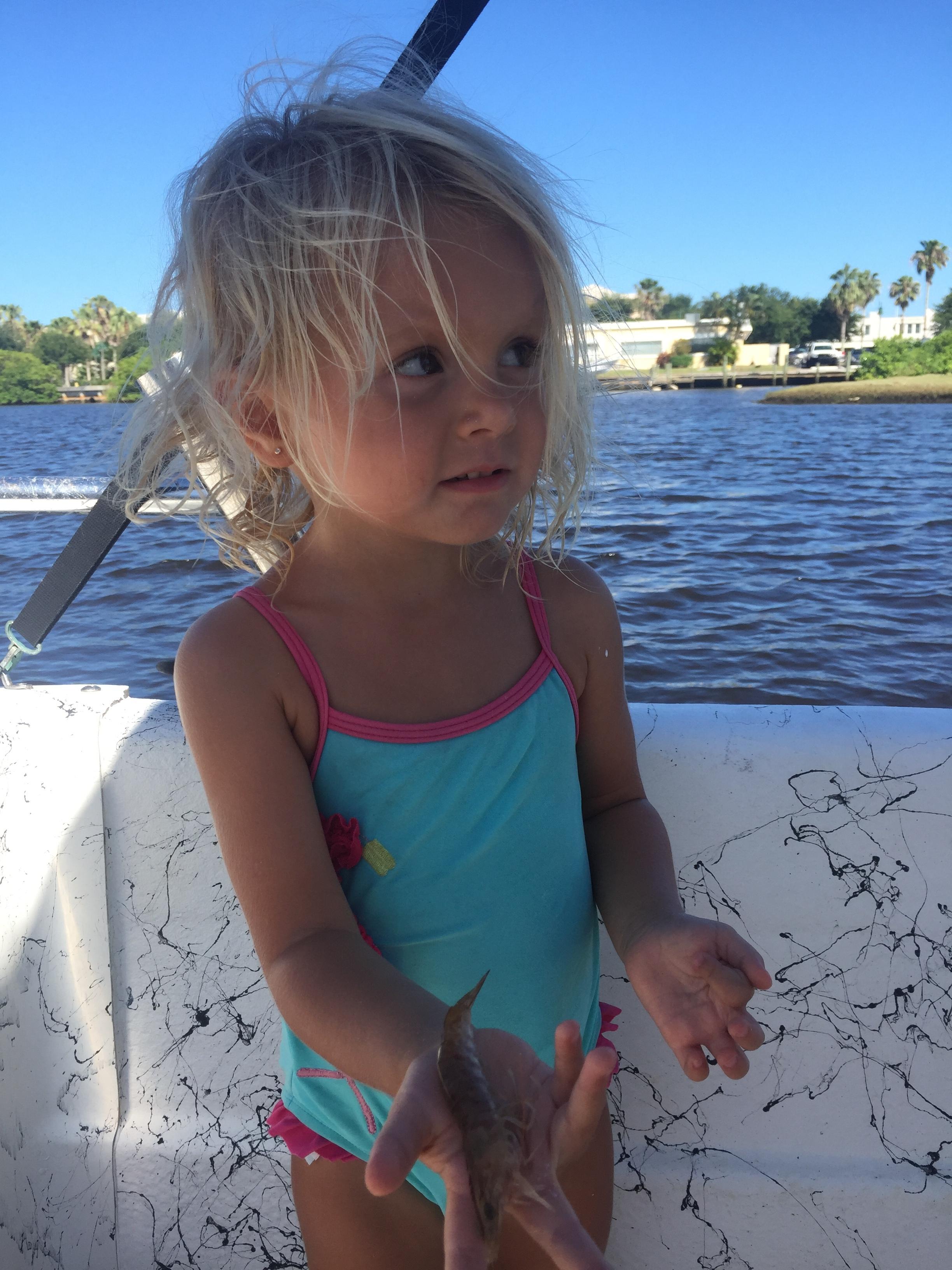 River Harrington, little fishing girl. Vero Beach, Florida. Florida Boat Rentals.