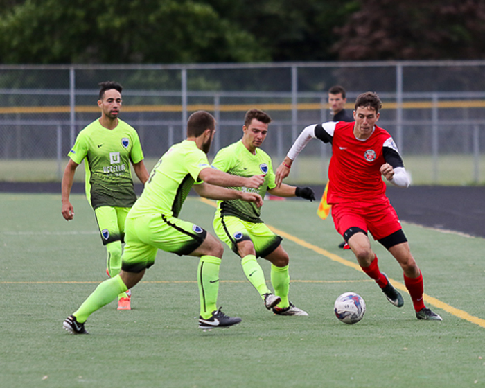 The Michigan Stars FC battled to a 1-1 draw with Grand Rapids FC. (JDN2 Photography image).