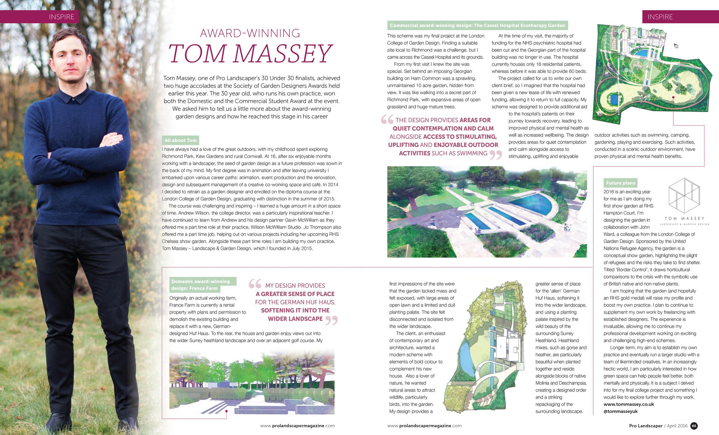 Tom Massey Inspire Article