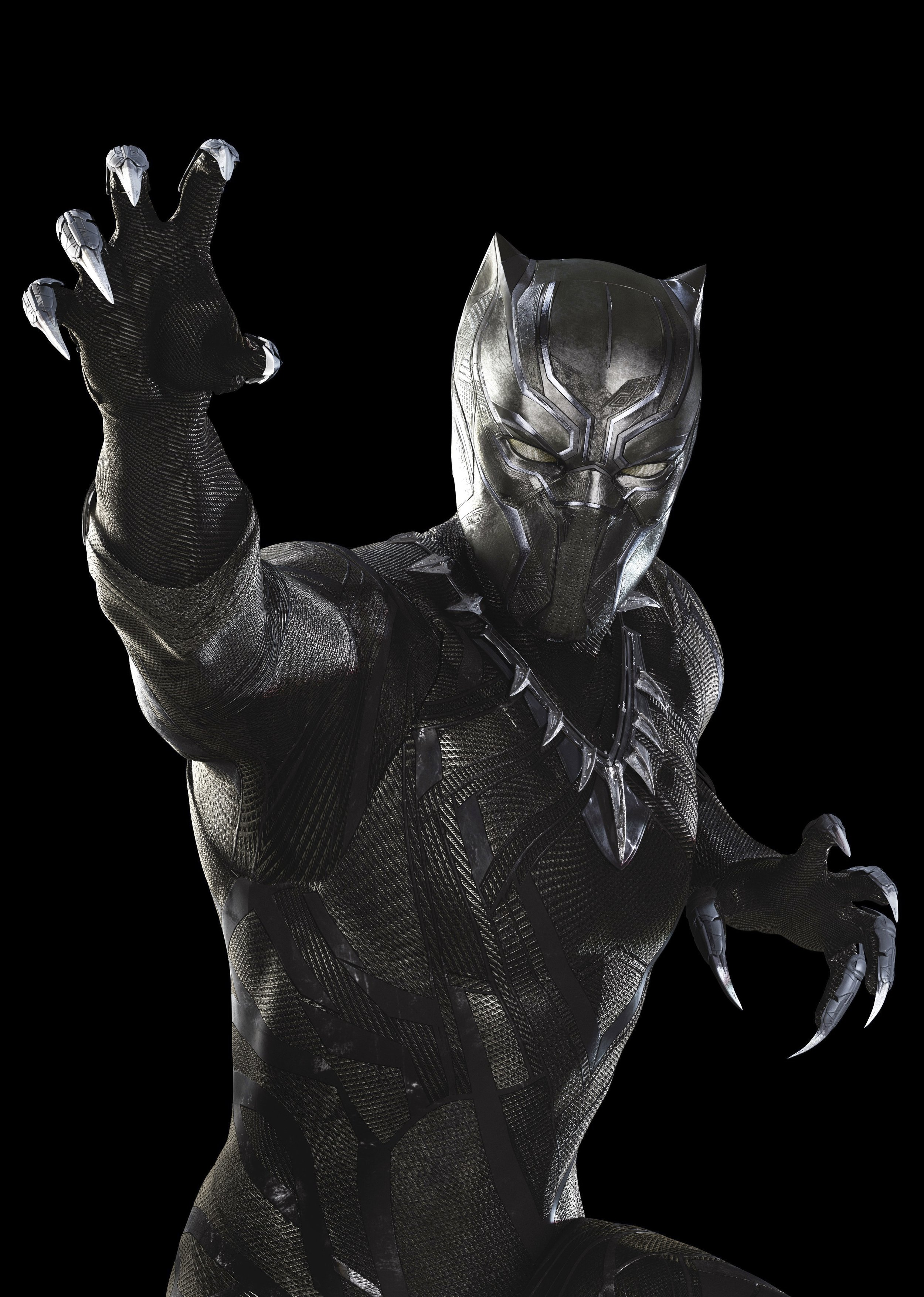 Black Panther, played by Chadwick Boseman