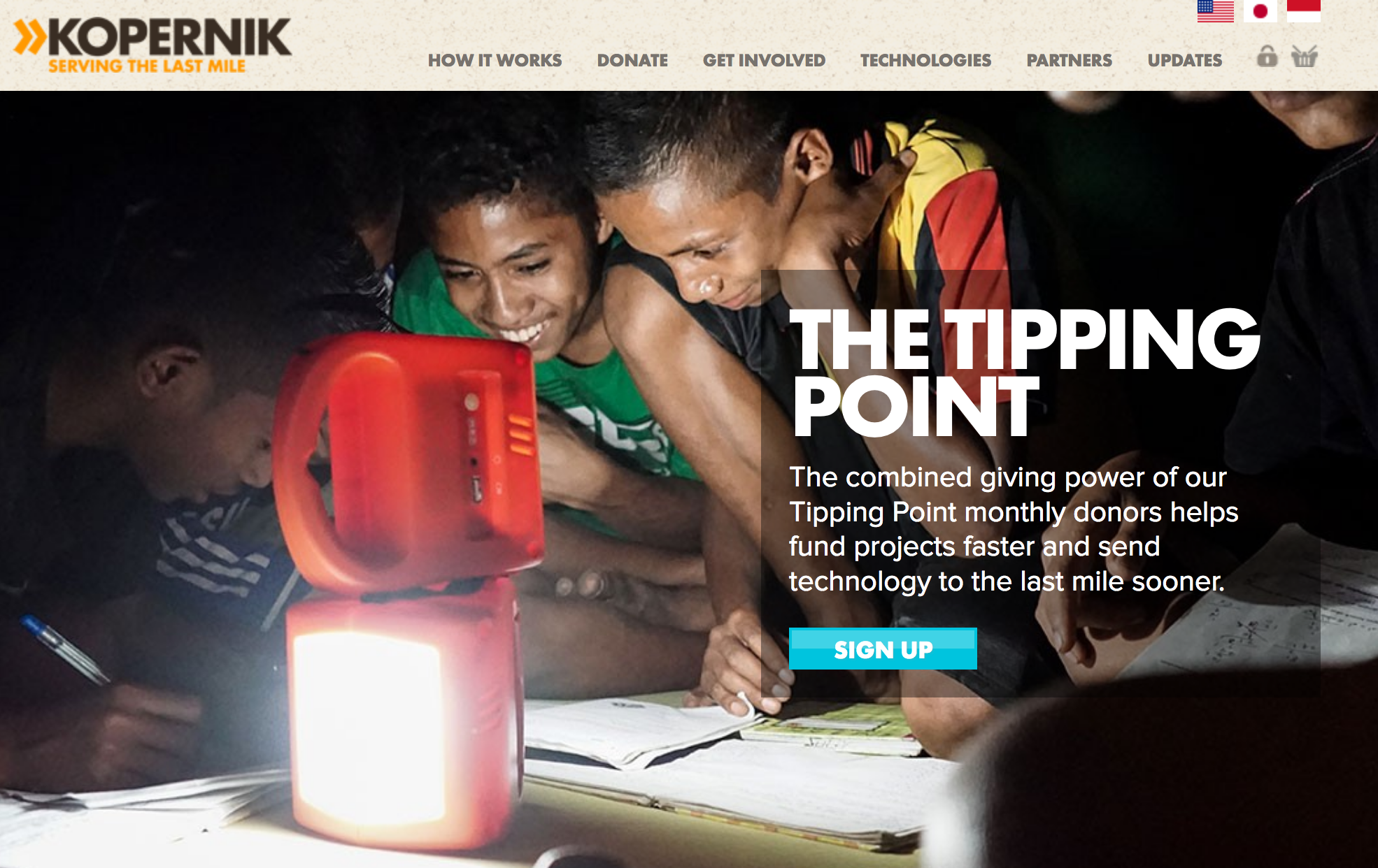 Through partnerships with NGOs like Kopernik we can use MakeItGo to bring the skills and passion of makers around the world to solve real social and environmental problems.