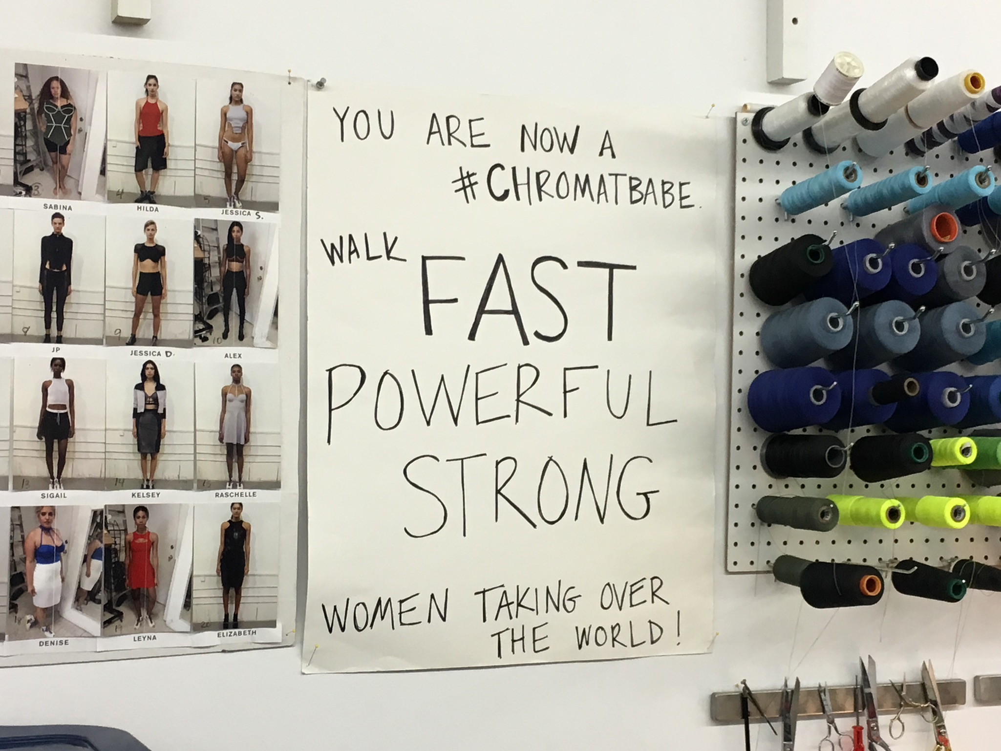 BEHIND THE SCENES: #ChromatBabes walk fast, are powerful and strong ---Women taking over the world!