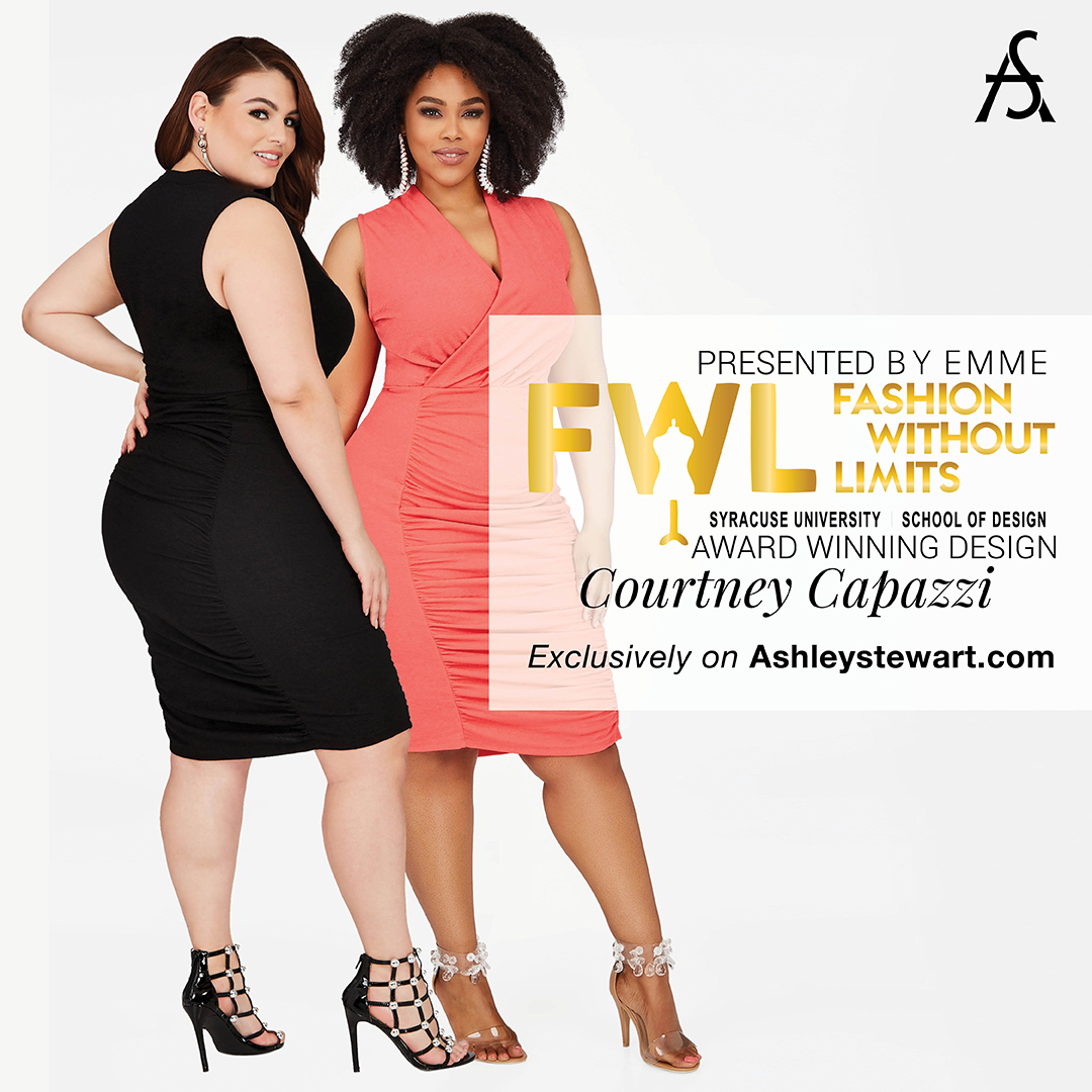 Designs: Courtney Capazzi '18 sold at  Ashley Stewart  Spring 2018